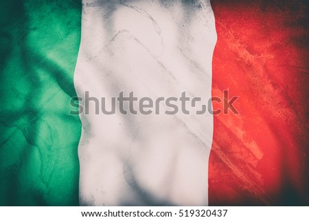 3d rendering of an old Italy flag waving