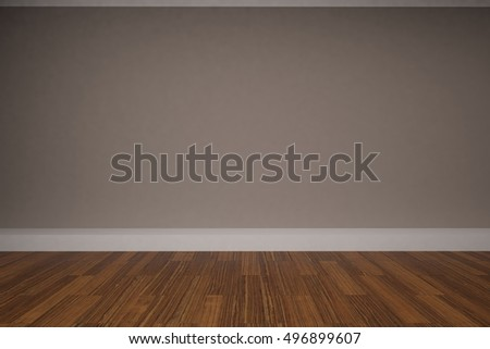 3d rendering of empty room with brown wall