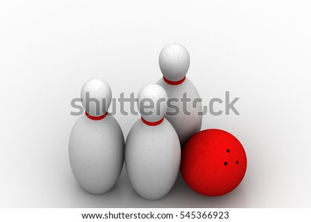 3D rendering of Scattered skittles  and balls