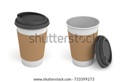 Coffee cups brown craft isolated stock photo 404152852 for Coffee mug craft kit