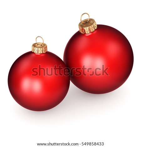 3D rendering red Christmas ball, 3D illustration