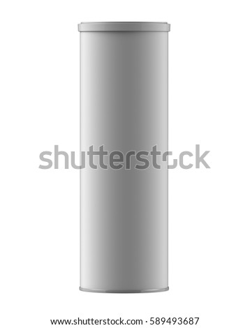 Round white glossy aluminum bottle cap stock vector for Cylinder packaging template