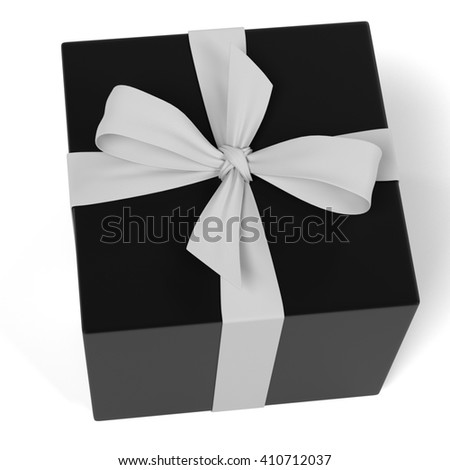3d renderings of gift with ribbon