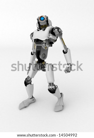 3d robotic figure