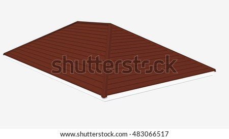 3d roof tile on the white background,3d rendering