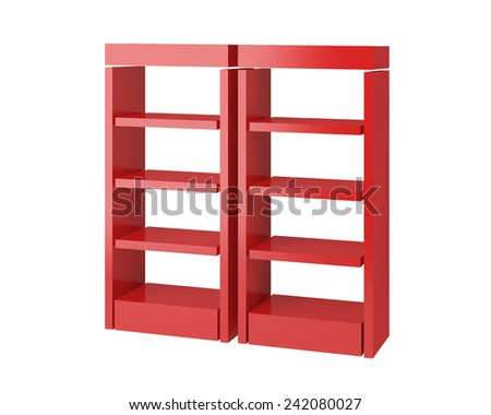 3D shop shelves