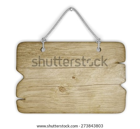 3D. Sign, Wood, Hanging.