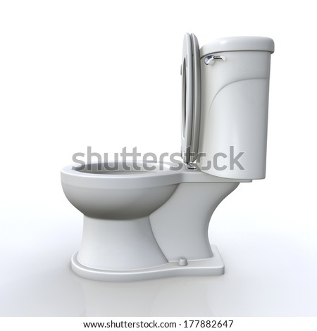 Side View White Toilet Bowl Stock Photo 400076548