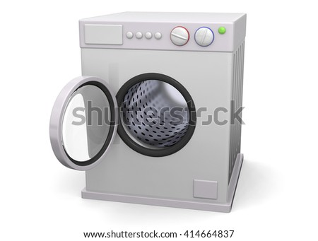 3D Washer on white background
