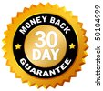 30 day money back guarantee - stock photo