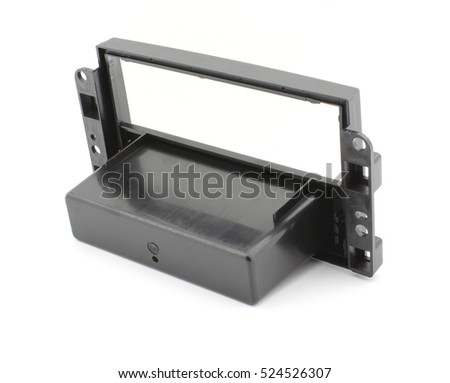 2 DIN radio mounting frame, back side view