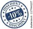-10% discount stamp - stock photo