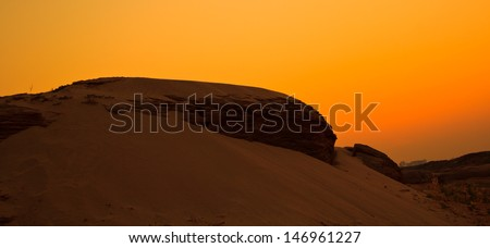 Dune view morning silhouettes landscape