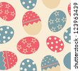 Easter Seamless pattern with eggs background . Raster version - stock photo