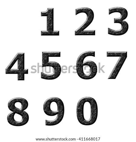 Block Letter Design Numbers Illustration Stock Vector 679216882 ...