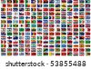 210 Flags of the World - every flag has its own clipping path with country name - stock vector