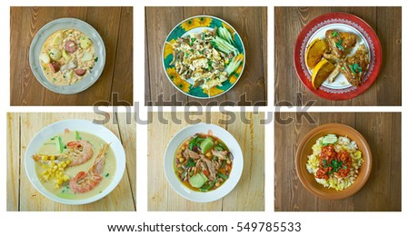 Food set . southern food.Latin American cuisine