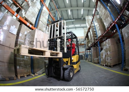 forklift operator at work in warehouse - Warehouse Forklift Operator Jobs