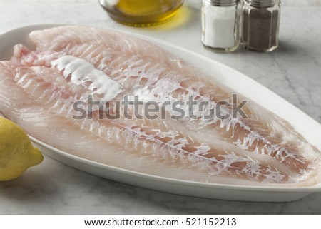 Fresh cod fillet on a dish
