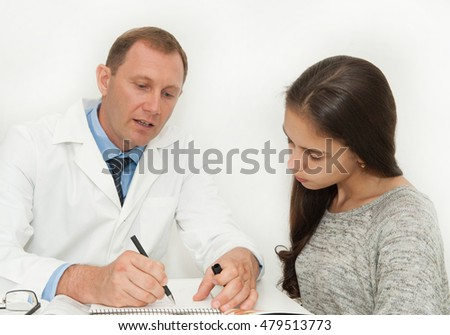 Girl on the Consultation with a doctor