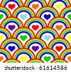illustration of a seamless rainbow pattern - stock photo