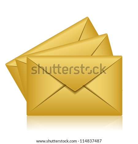 Illustration of gold envelopes