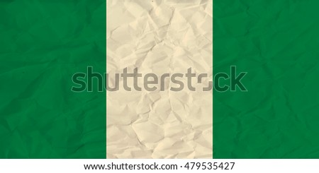 image of the Nigeria  paper  flag