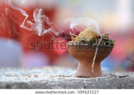 incense smoke, incense burner, Incense sticks