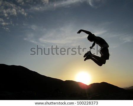 Jumping in the Sunset, Peru