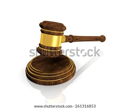 Justice Judge Gavel On White Background Stock Illustration ...