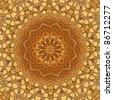 kaleidoscopic pattern of antique  wooden door - stock photo