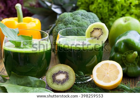 Loosing weight with detoxing green smoothies