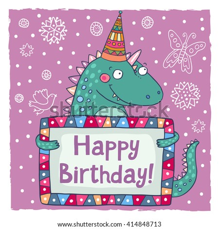 Set 6 Cute Creative Cards Templates Illustration 565348228 – Happy Birthday Word Template