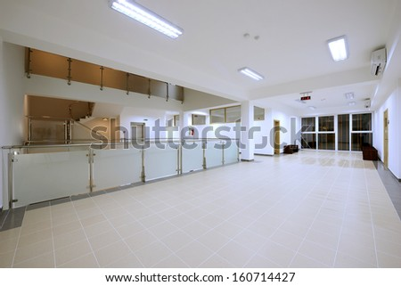 main hall in modern office building