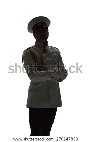 man in white guard russian officer coat
