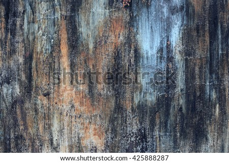 metal rust surface with blue,black and brown color
