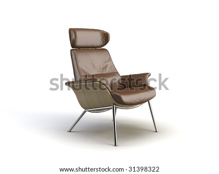 modern chair on the white background