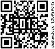 2013 New Year counter, QR code. - stock photo