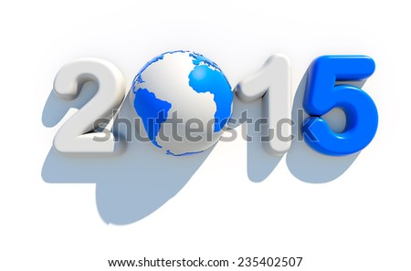 2015 new year logo | 3d illustration