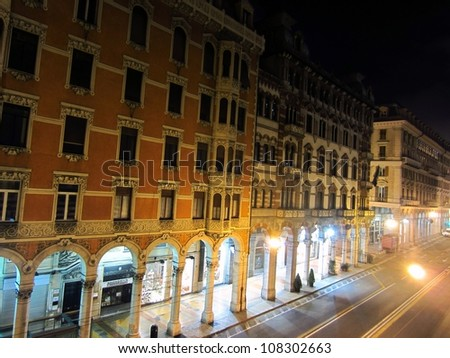 Night in Genoa, Italy