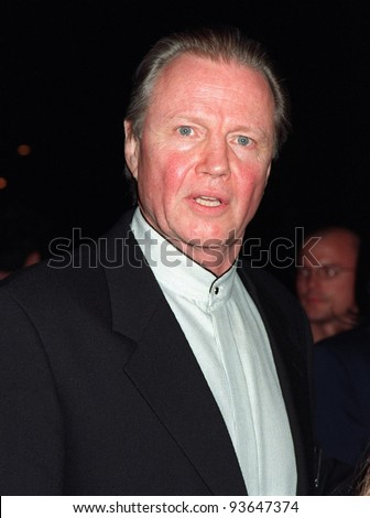"18NOV97:  Actor JON VOIGHT at the premiere of his new movie, ""John Grisham's The Rainmaker,"" at Paramount Studios, Hollywood."