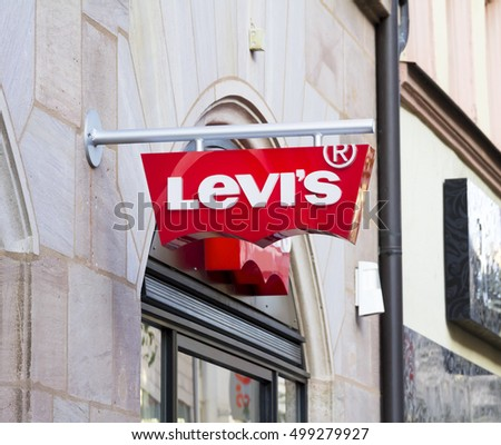 Nurnberg, Germany, October 16, 2016: Levi's outlet, Nurnberg. Founded in 1853, Levi Strauss is an American clothing company known worldwide for its brand of denim jeans.