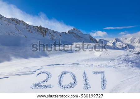 2017 on snow at mountains - Hochgurgl Austria - nature and sport background
