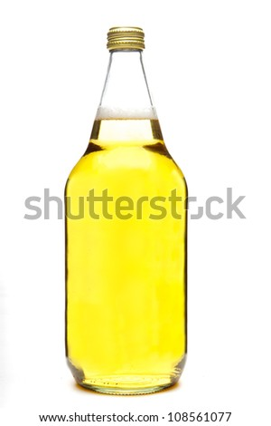 40 ounce beer bottle, isolated on white background