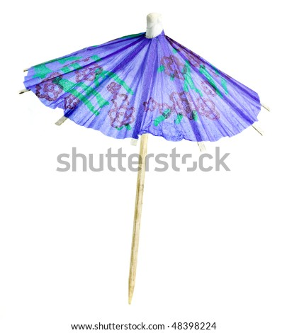 paper umbrella isolated on a white background