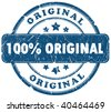 100 percent original grunge stamp - stock vector