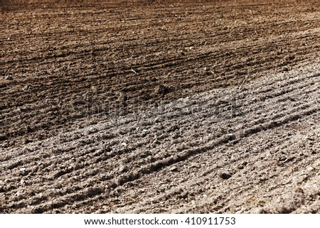 plowed land, to grow and produce a new crop
