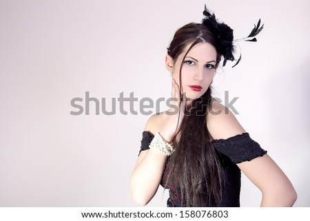 portrait of beautiful stylish girl