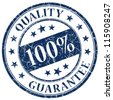100% quality guarantee stamp - stock photo