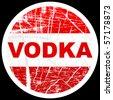 (raster image of vector) vodka stamp - stock vector